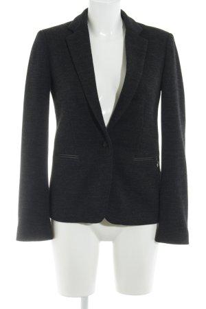 Maison Scotch Tweed blazer donkergrijs-lichtgrijs gestippeld klassieke stijl