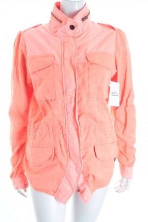 Maison Scotch Übergangsjacke neonorange Hippie-Look