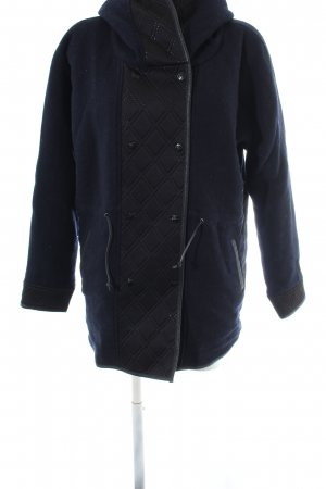 Maison Scotch Übergangsmantel blau-schwarz Steppmuster Casual-Look