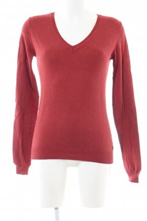 Maison Scotch V-Ausschnitt-Pullover rot Casual-Look