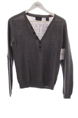 Maison Scotch V-Ausschnitt-Pullover grau Casual-Look