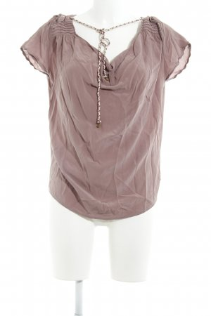 Maison Scotch Cowl-Neck Shirt grey lilac casual look
