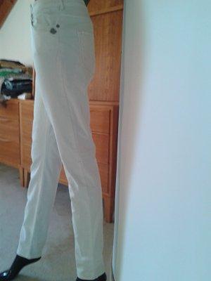 Maison Scotch weiße schmale Hose mit Elasthan, Gr. 30/32,NEU