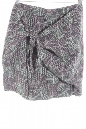Maison Scotch Wraparound Skirt graphic pattern retro look
