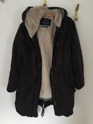 Maison Scotch Hooded Coat black-silver-colored