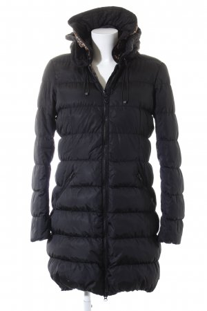 Maison Scotch Winterjacke schwarz Steppmuster Casual-Look