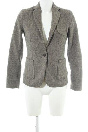 Maison Scotch Woll-Blazer grau-schwarz abstraktes Muster Business-Look
