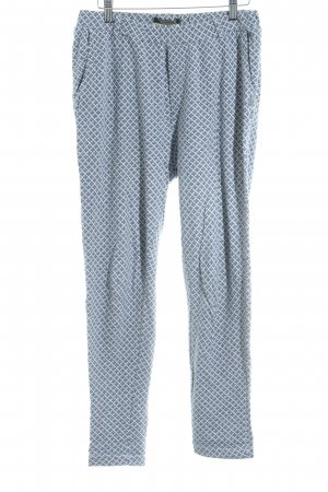 Maison Scotch Woolen Trousers natural white-steel blue check pattern casual look