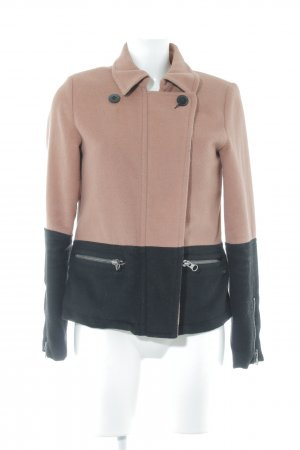Maison Scotch Wolljacke nude-schwarz Casual-Look