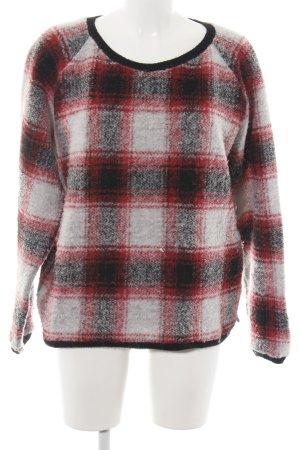 Maison Scotch Maglione di lana motivo a quadri stile semplice