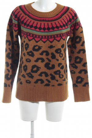 Maison Scotch Wollpullover Aztekenmuster Casual-Look