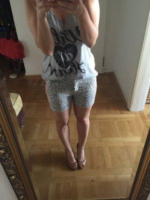 MAISON SCOTCH zara Leopard Animal cos Jeans Shorts Tiger Print grau NEU 27
