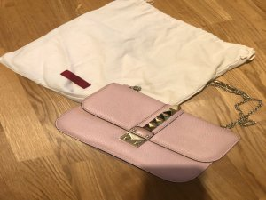 Maison Valentino Rockstud Lock Bag in DUSTY ROSE