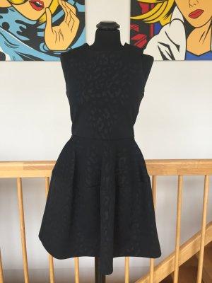 Maje Abendkleid 36 schwarz Animalprint