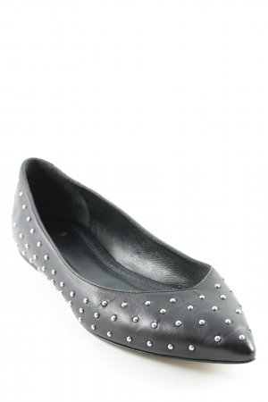 Maje Ballerinas with Toecap black-silver-colored spot pattern casual look