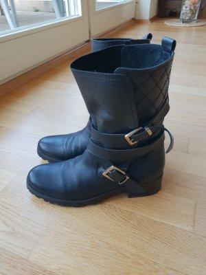 Maje Biker Boots Stiefeletten Stiefel 39 Echt Leder Schwarz Sandro Paris The Kooo