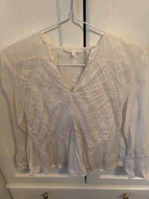 Maje Linnen blouse wolwit