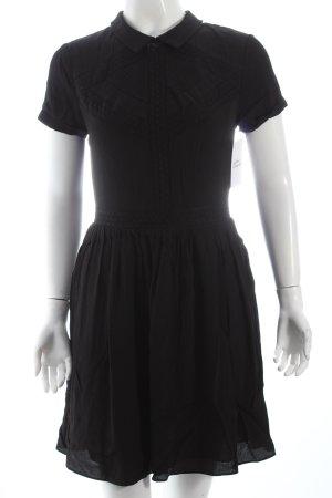 Maje Blusenkleid schwarz klassischer Stil