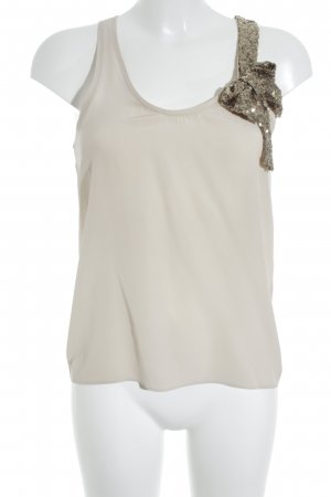 Maje Blouse Top beige-gold-colored wet-look