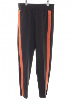 Maje Pantalón de pinza negro-rojo look Street-Style