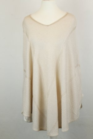 MAJE Cape Poncho Pullover Strick Gr. one size nude