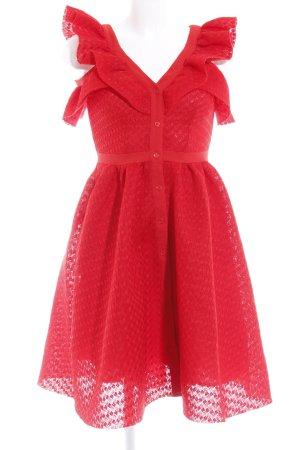 Maje Cocktailkleid rot abstraktes Muster 50ies-Stil