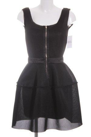 Maje Cocktailkleid schwarz extravaganter Stil
