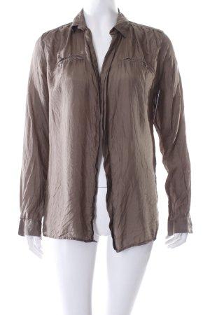 Maje Crash-Bluse khaki klassischer Stil