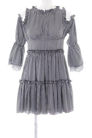 Maje Cut-Out-Kleid schwarz-weiß Streifenmuster Elegant