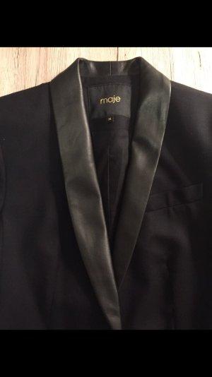 Maje Blazer de esmoquin negro