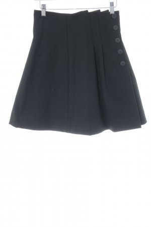 Maje Jupe à plis noir élégant