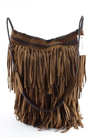 Maje Fringed Bag brown-dark brown Boho look