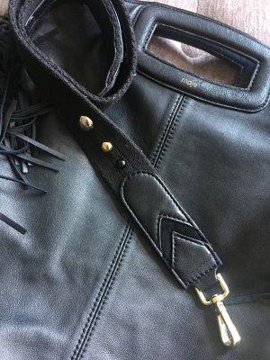 Maje Sac à franges noir cuir