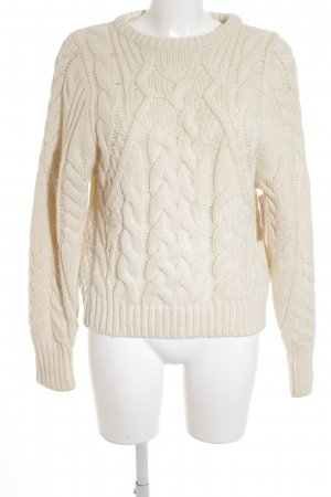 Maje Grobstrickpullover Zopfmuster Casual-Look
