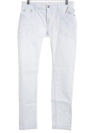 Maje Pantalón de cintura alta blanco look casual