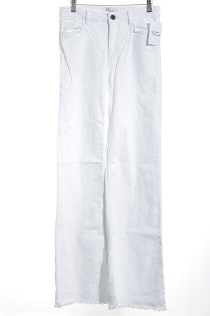 Maje High Waist Jeans weiß Retro-Look