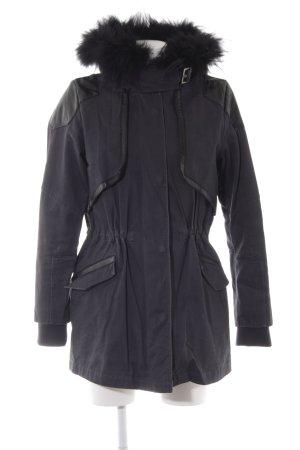 Maje Manteau à capuche taupe style décontracté