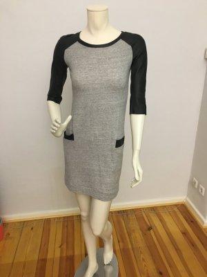 Maje Kleid Baumwollkleid mit Lederärmeln Größe 1