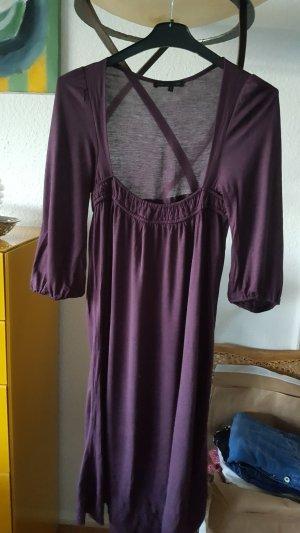 Maje Vestido estilo camisa burdeos-púrpura