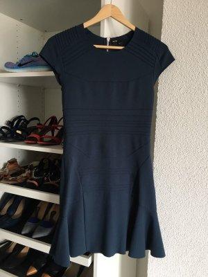 Maje Kleid dress robe Minikleid petrol blau grün Neopren T1 XS 34 36 Sandro