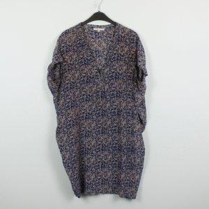 Maje Kleid Gr. M/L blau beige gemustert oversized (19/02/165)