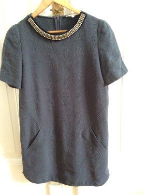 Maje, Kleid, Größe 2, Größe 36, blau/grau