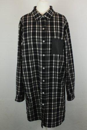 Maje Kleid Kleid Blusenkleid Hemdkleid Gr. Onesize schwarz weiß kariert oversized