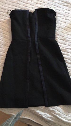 Maje Kleid schulterfrei in schwarz mit Etikett