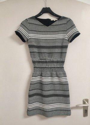 Maje Kleid schwarz-weiß Stretch