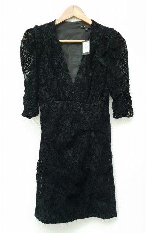 Maje Kleid Spitze schwarz