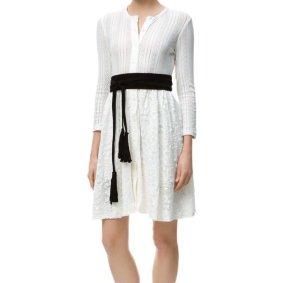 Maje Kleid Spitzenkleid Roxo weiß 36 38 Spitze Skaterkleid NP 275