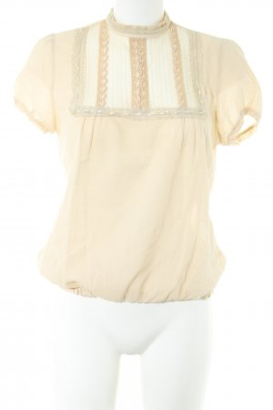 Maje Kurzarm-Bluse creme Business-Look