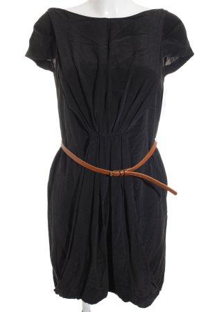 Maje Kurzarmkleid schwarz-braun schlichter Stil