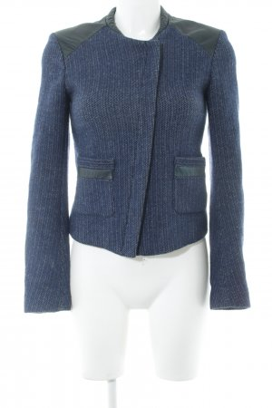Maje Kurzjacke blau abstraktes Muster Business-Look